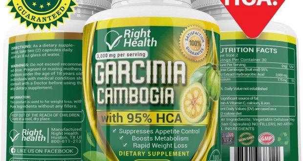 3000mg Daily GARCINIA CAMBOGIA 95%HCA Capsules Fat Burn Slim Diet Weight Loss