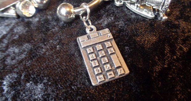 TRACKING what you eat? Calculator Weight Loss Charm  for Weight Watchers Ring