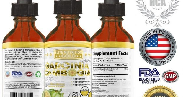 PURE 95%-98% HCA Garcinia Cambogia Extract Diet Weight Loss Fat Burner TINCTURE