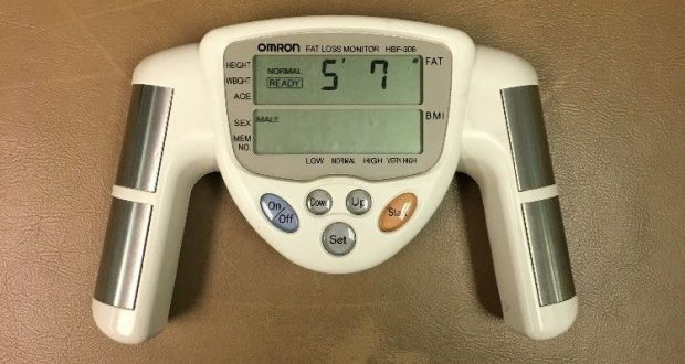 Omron Fat Loss Monitor HBF-306 Body Fat Analyzer White Body Logic C32