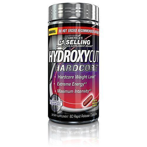 Hydroxycut Hardcore Fat Burn Weight Loss Energy Supplement 60 Capsules