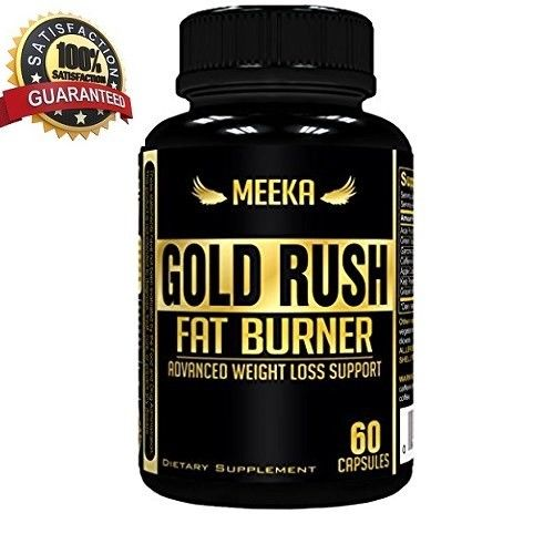 Meeka Gold Rush Thermogenic Fat Burner Weight Loss Supplement Appetite 60 caps