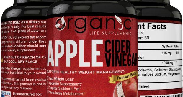 Organic Apple Cider Vinegar Capsules Weight Loss – Fast Acting!