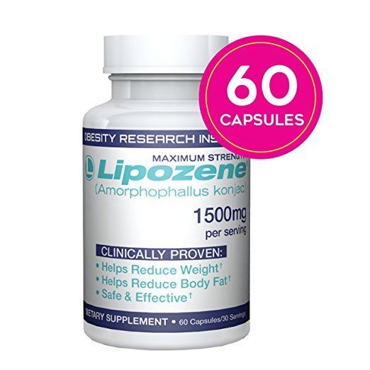 Lipozene Green Diet Pills All Natural Weight Fat Appetite Loss Supplement 60 ct