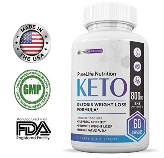 Purelife Keto Weight Loss Supplement Fat Burner Pills Extra Strength Appetite