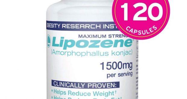 Lipozene Diet Pills -Maximum Strength Fat Loss Formula 1500mg, MEGA 120 Capsules