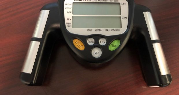Omron HBF-306C Fat Loss Monitor Handheld BMI Analyzer Body Logic Weight Loss