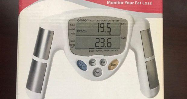 Omron HBF-306C Body Fat Loss BMI Analyzer Monitor – White