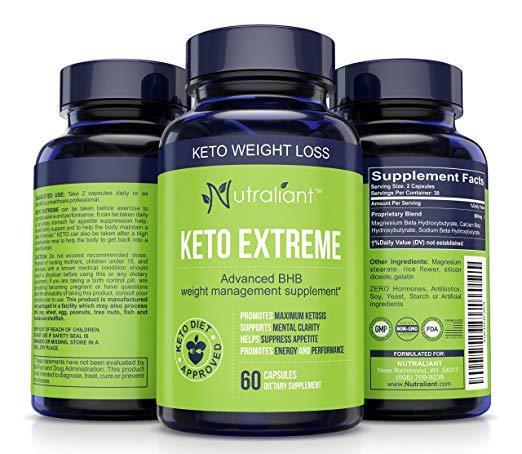 Nutraliant KETO EXTREME #1 ADVANCED WEIGHT LOSS SUPPLEMENT Burns Fat- Not Carbs+