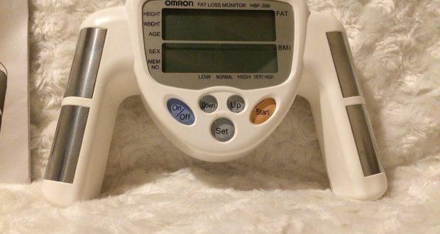 Omron HBF-306C Body Fat Loss BMI Analyzer Monitor – White Pre Owned