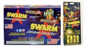 Box 24x Packs Stacker 2 SWARM – 4 Capsules Extreme Energy Weight Loss Fat Burn