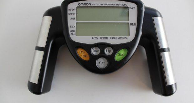 Black Omron Body Fat Loss Monitor Model HBF-306C BMI