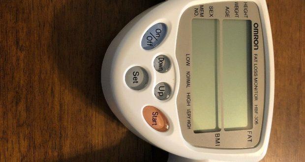 Omron Fat Loss Monitor Model HBF-306 BMI tester profile dual display