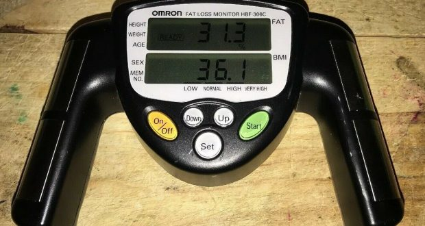 Used Omron Fat Loss Monitor / Body Fat Measure HBF-306C Works Perfectly