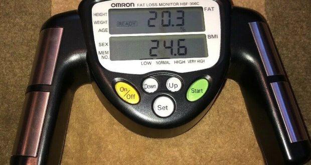 Omron HBF-306C Handheld Body Fat Loss Monitor, Mint Condition