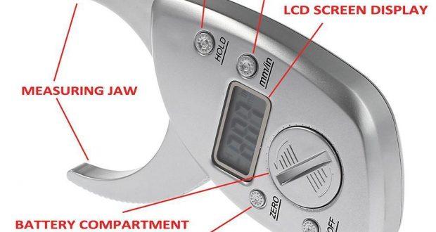 Digital LCD Body Fat Callipers Measure Weight Loss Calculator Clips Percentage #