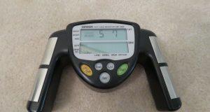 OMRON HBF-306C HANDHELD DIGITAL BODY FAT LOSS MONITOR BLACK MINT
