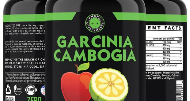 Angry Supplements Garcinia Cambogia w Apple Cider Vinegar, ACV Weight Loss Pills