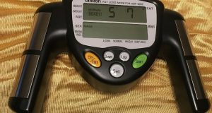 Omron HBF-306C Fat Loss Monitor Body Logic Bodyfat Fitness EUC Free Shipping