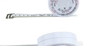 USA BMI Body Mass Index Retractable Tape Measure & Calculator Diet Weight Loss
