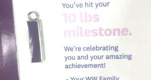 Weight Watchers 10 Lb Charm Purple NEW 2019 Wellness Workshop Weight Loss