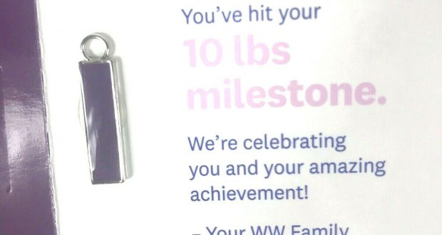 Weight Watchers 10 Lb Charm Purple NEW 2019 Wellness Workshop Weight Loss