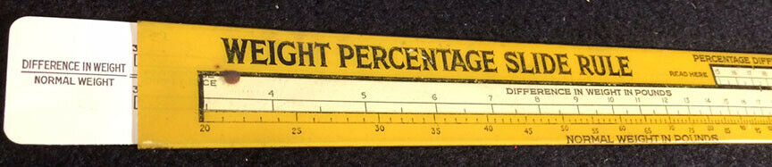 CLEARANCE:  Calculator cards, student slide rules, weight loss, round calculator