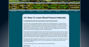 101 Ways To Lower Blood Pressure Naturally