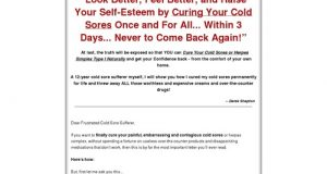 Cold Sore Free Forever – How to Cure Cold Sore Easily, Naturally and Forever!