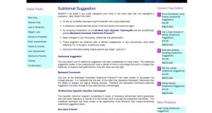 Subliminal Suggestion – Brainwave Entrainment Store