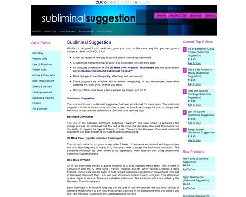 Subliminal Suggestion – Brainwave Entrainment Store