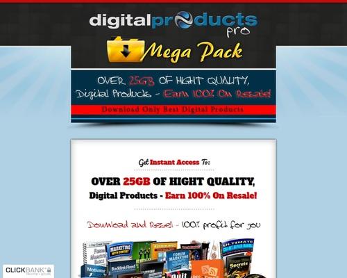 Digital Mega Pack – Over 25GB MRR Files To Download