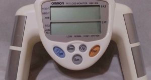 Omron Fat Loss Monitor HBF-306CN White Track Body Fat BMI