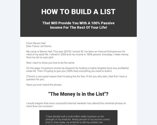 Free List Building Software