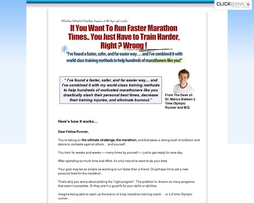 Marathon Training Plan – 100 Day Program | Olympian Marius Bakken's Marathon Schedule