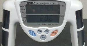 Omron HBF-306 Fat Loss BMI Monitor Analyzer In White