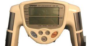 Omron Fat Loss Monitor HBF-306, Handheld Battery-Powered  Fat, BMI Free Shipping