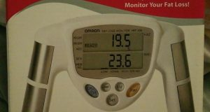 Omron HBF-306 Fat Loss Monitor White Body Fat Mass Index