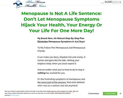 The Menopause Solution – Blue Heron Health News