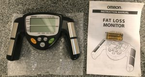 Omron HBF-306C Fat Loss Analyzer Monitor Body Logic Bodyfat Fitness New BLACK