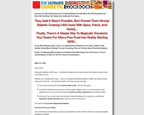 Ultimate Diabetic Cookbook