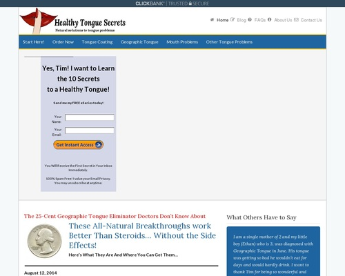 Healthy Tongue Secrets Revealed – Geographic Tongue | Healthy Tongue Secrets
