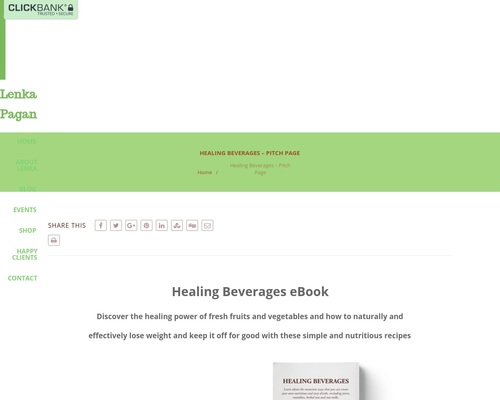 Healing Beverages – Pitch Page –