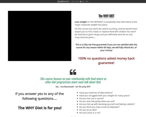 The WHY DIET |
