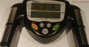 Omron HBF-306C Fat Loss BMI Monitor Tracker Handheld Black