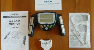 OMRON fat Loss Monitor HBF-306C with accessories