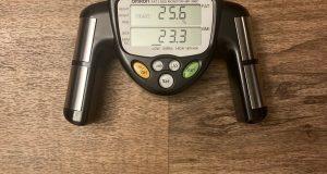 Omron HBF-306C Body Fat Loss Monitor Analyzer BMI Body Mass Index Black mint