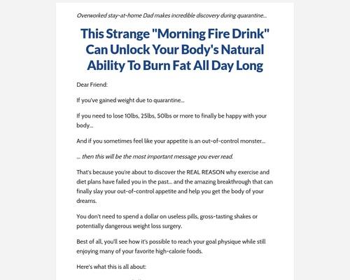 The Underground Fat Burner Supplement