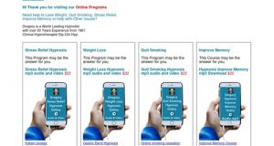 Online Programs – Quit Smoking, Lose Weight, Stress Relief, Improve Memory and more.